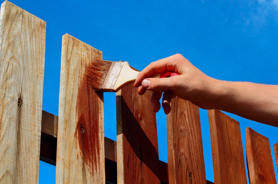 staining-wood-fence