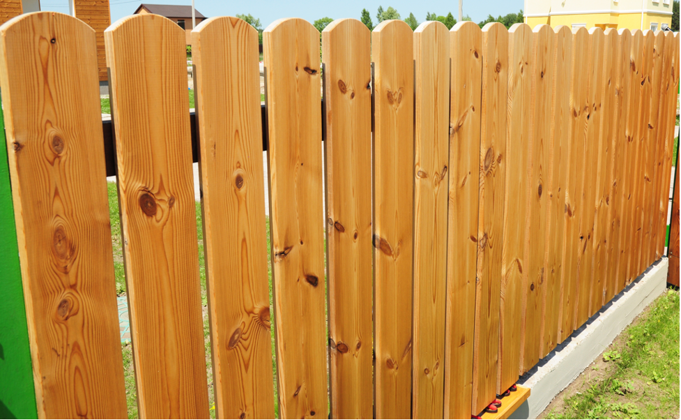 Wood fence installation at a house in Evanston, Illinois