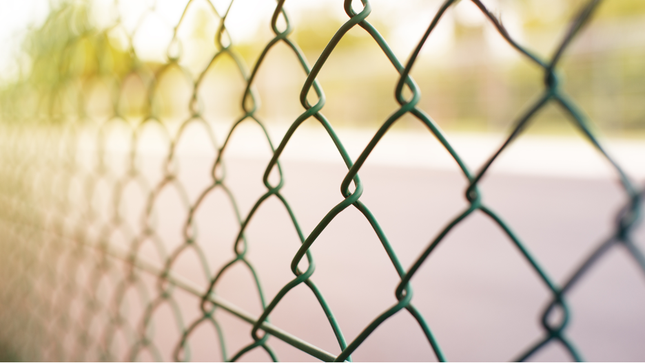 Chain link fencing in Lake Zurich, Illinois