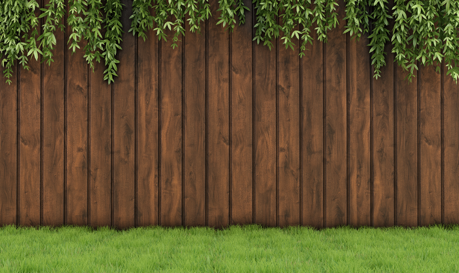 Wood fence at a house in Lake Forest, Illinois