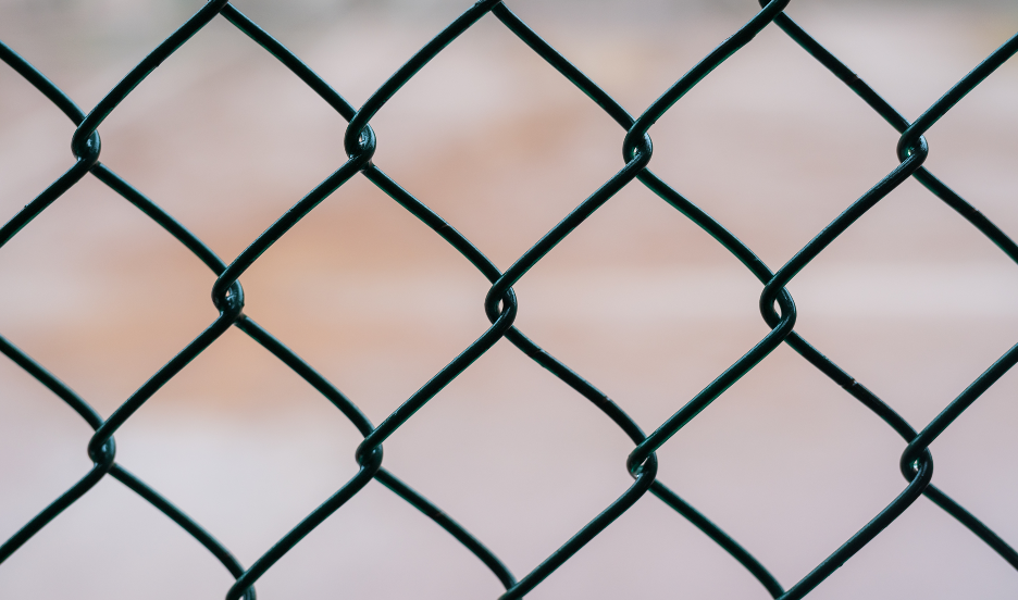 Chain link fencing in Buffalo Grove, Illinois
